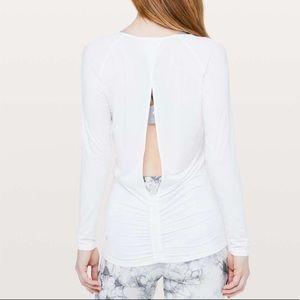 Lululemon Deep Stretch Long Sleeve Cinch White 6